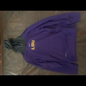 LSU hoodie youth medium